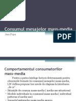 Consumul Mesajelor Mass-media
