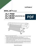 Roland XJ-740 Korisnicko uputstvo
