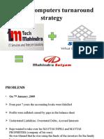 Satyam Computers Turnaround Strategy Revised