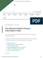 Finance Internships India_ Resume, Cover Letter & Action Plan