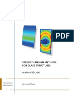 Strength Design Methods for Glass Structures