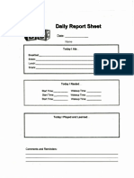 daily report sheet new all