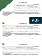 Autorización Paseo 2014