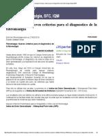 'Fibromialgia_ Nuevos Criterios Para El Diagnostico de La Fibromialgia Mayo 2010'