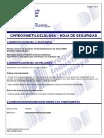 CARBOXIMETILCELULOSA - MSDS