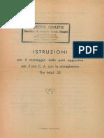 Istruzioni montaggio parti aggiuntive tiro CA Fiat 35