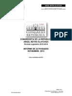 Informe de Gestión  Noviembre  2015