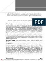 A COMPETÊNCIA NO ART. 2º DA LEI DE AÇÃO PÚBLICA – COMPETÊNCIA TERRITORIAL ABSOLUTA OU COMPETÊNCIA TERRITORIAL FUNCIONAL?