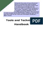 Tools Techniques Handbook