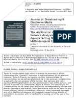 The Application of Social Network Analysis in Agenda Setting Research