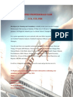 Certified Professionals Club Invitation
