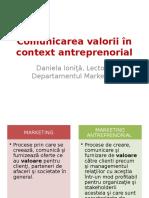 Comunicarea Valorii in Context Antreprenorial