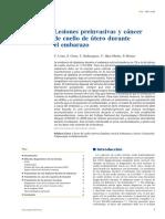 Lesiones Preinvasivas y Cáncer