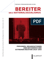 Daniel Schmidt/ Michael Sturm/ Massimiliano Livi (Hrsg.), Wegbereiter des Nationalsozialismus