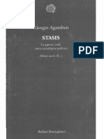 AGAMBEN, G. Stasis La Guerra Civile Come Paradigma Político Homo Sacer II 2-Bollati-Boringhieri-2015