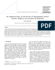 An empirical study on the drivers of management control systems' design in new product dev