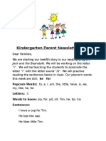 parent newsletter 12