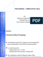 Silicon Processing - Fabrication Yield