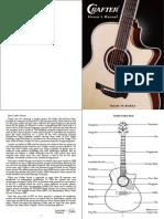 Crafter Guitar  Manual