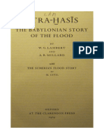 Athrahasis. the Babylonian Story of the Flood. by W. G. Lambert and a. R. Millard. Oxford 1969