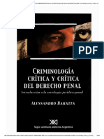 Criminologia Critica y Critica Del Desrecho Penal