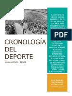 Cronología Del Deporte