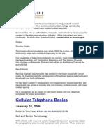 Cell Phone Basics