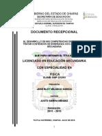 EL DESARROLLO DE MIS COMPETENCIAS DIDÁCTICAS AL TRATAR CONTENIDOS DE ENSEÑANZA CON UN GRUPO DE SECUNDARIA