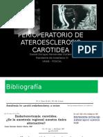 Perioperatorio en Pacientes Para Stent Carotideo
