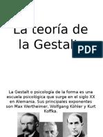 La teoría de la Gestalt