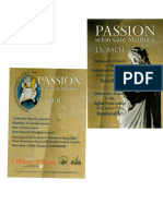 Passion St Matthieu