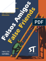 Falsos Amigos False Friends por Glenn Darragh- Ingles Espanol (Spanish Edition) (2003)