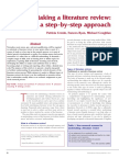 2008 Undertaking a Literature Review a Step by Step Approach