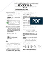 Divisibilidad - Numeros Primos 2do