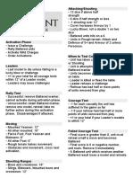 Lion Rampant Reference Sheet