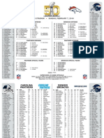 Super Bowl 50 Flip Card