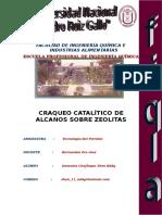 Craqueo Catalítico de Alcanos Sobre Zeolitas