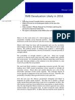 China RMB Devaluation 2016