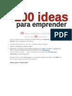 100 Ideas Para Emprender