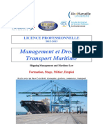 Management Et Droit Du Transport Maritime