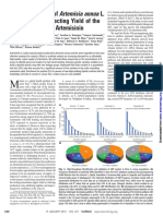 The Genetic Map of Artemisia Annua L. Identifies Loci Affecting Yield of the Antimalarial Drug Artemisinin.