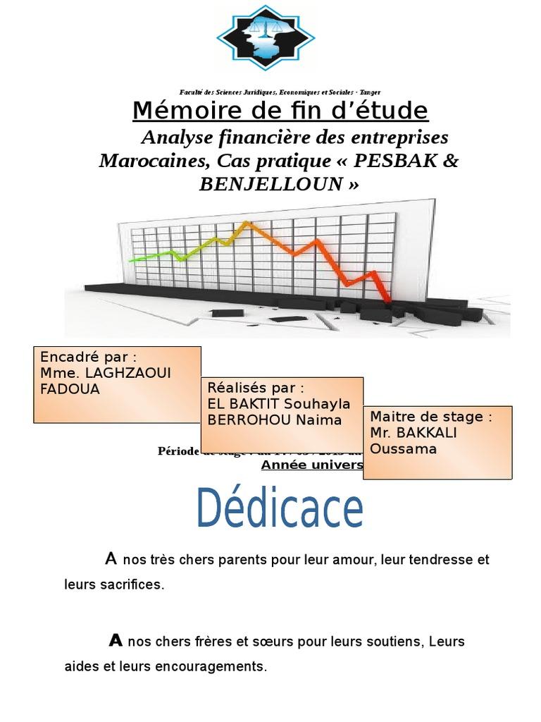Mémoire de Fin D_étude Mémoire Final (Réparé) | Ratio ...