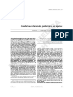 Caudal Anesthesia in Pediatric - Copy
