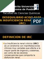 Desequilibrio Acido-base en Insuficiencia Renal Crónica