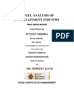 PESTEL ANALYSIS OF ENTERTAINMENT INDUSTRY
