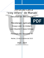 Viaje a Través de Los Principales Expositores Teóricos de La Psicoterapia Psicodinámica