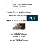 Computer Reaction Paper About Inventions