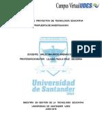 1 ActGERENCIA   DE  PROYECTOS  DE  TECNOLOGÍA  EDUCATIVA PROPUESTA DE INVESTIGACIONividad 1 (ENVIADA)