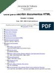 guía para escribir documentos html