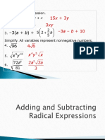 adding and subtracting radicals